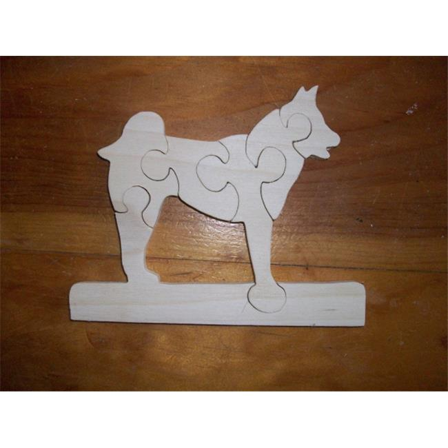 Fine Crafts 212ANI Husky wooden jigsaw puzzle