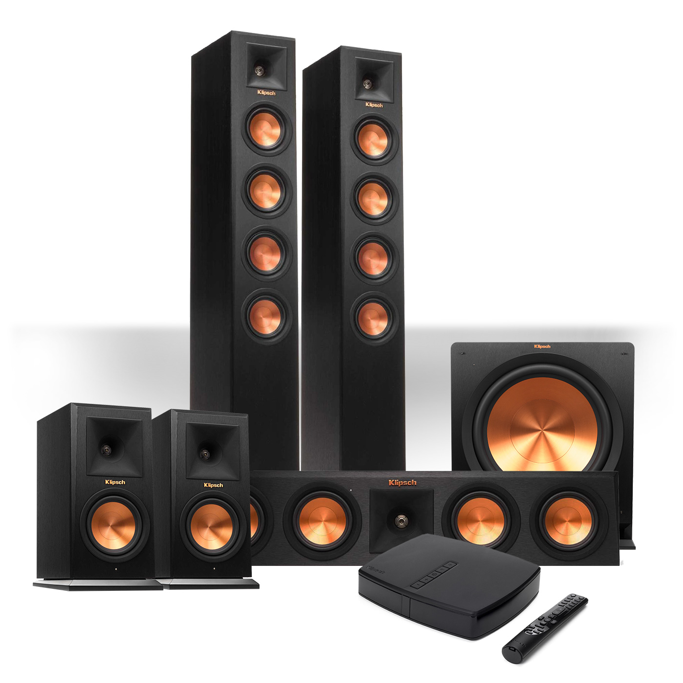 Klipsch Ref Premiere HD Wireless 5.1 Speaker System w  Control Center by Klipsch