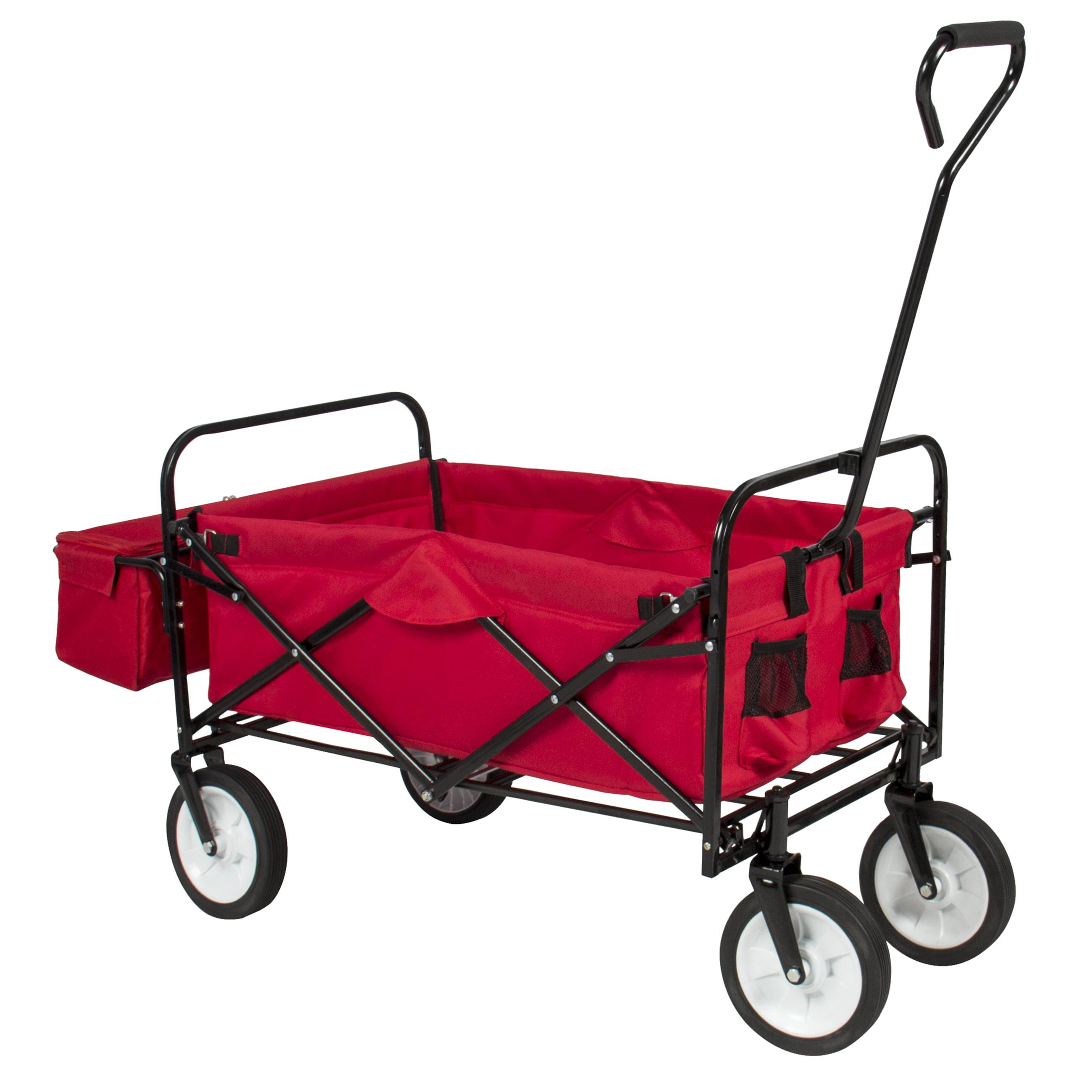 Delightful Folding Wagon W/ Canopy Garden Utility Travel Collapsible Cart Outdoor Yard  Home   Walmart.com