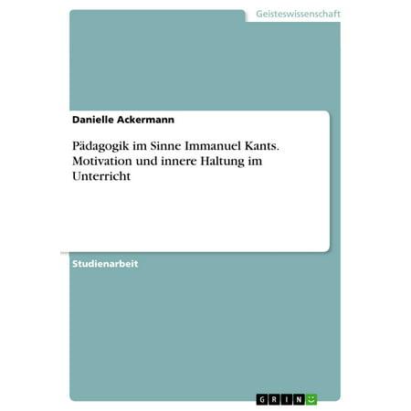 Pädagogik im Sinne Immanuel Kants. Motivation und innere Haltung im Unterricht - eBook (Moderne Haltung)