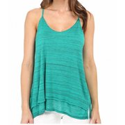 Splendid NEW Green Women's Size XS Scoop-Neck Solid Sleeveless Blouse