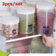 Airtight Food Storage Containers, 3 Pieces Plastic Cereal Containers with Easy Lock Lids, for Kitchen Pantry Organization and Storage