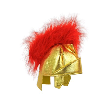 Italian Gondolier Costume (Pack of 6 Italian Holiday Red and Gold Roman Helmet Costume)