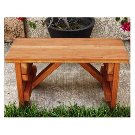 Best Redwood Backless Picnic Table Bench Walmart Com