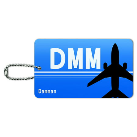 Graphics and More Dammam Saudi Arabia (DMM) Airport Code ID Card Luggage