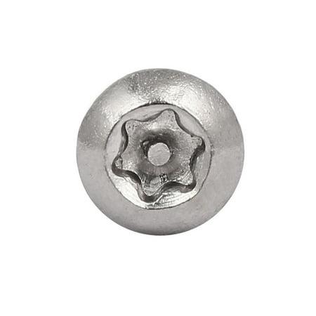 M4x25mm 304 tête en acier inoxydable Torx Tamper Résistant Vis 30pcs - image 2 de 4