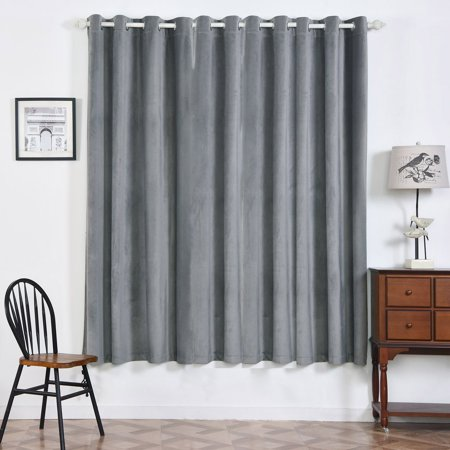 b5a6e0dab78c4d Efavormart 2 Panels Blackout Curtains Premium Velvet Thermal Insulated With  Chrome Grommet Window Treatment For Window Decoration - Walmart.com