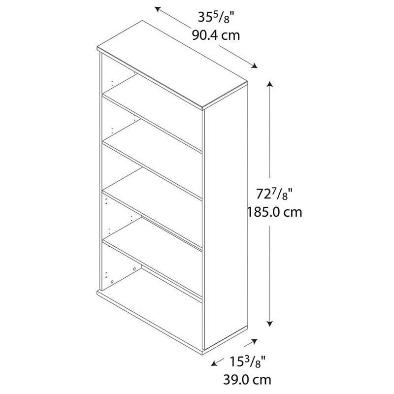 """Bush Business Series C 36"""" 5-Shelf Bookcase Natural Cherry - image 2 de 4"""