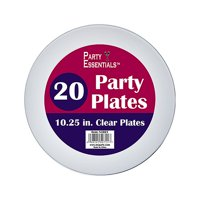 """1 - Party Essentials 10.25"""" Party Plates - Clear 20 Ct."""