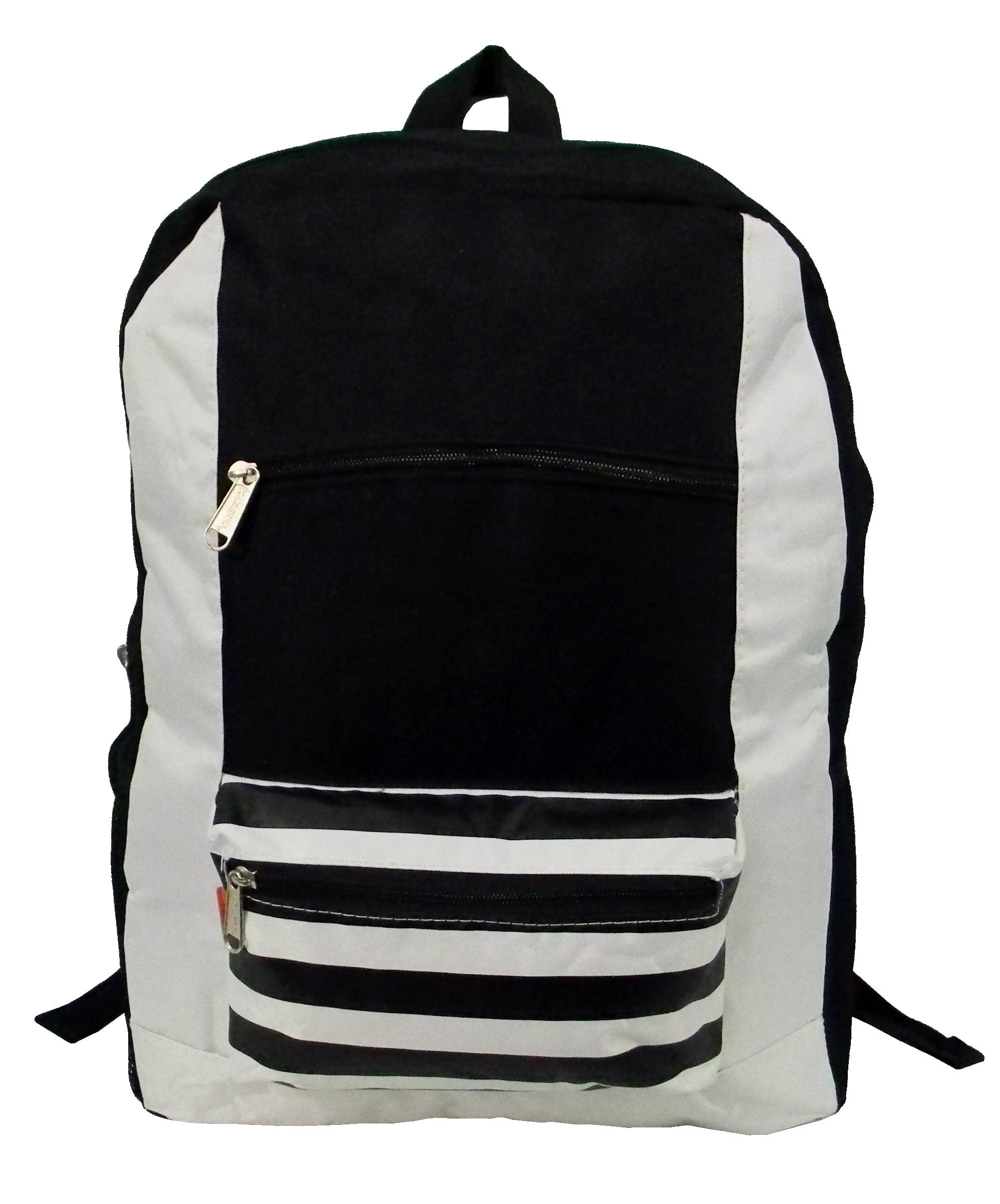 Contrast Backpack 18 School Book Bag Daypack Grey