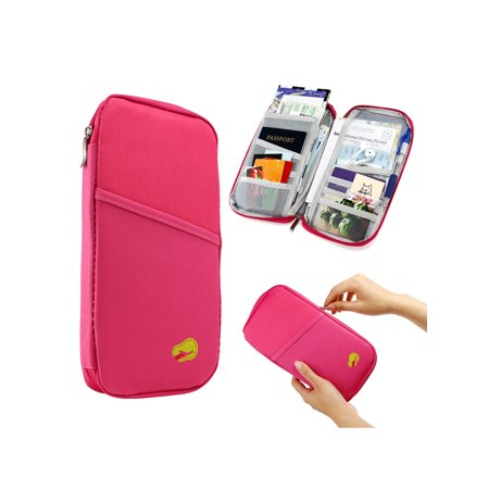 07b3537668b GEARONIC TM - Travel Trip Passport Credit ID Card Cash Organizer Wallet  Purse Holder Case Document Bag - Walmart.com