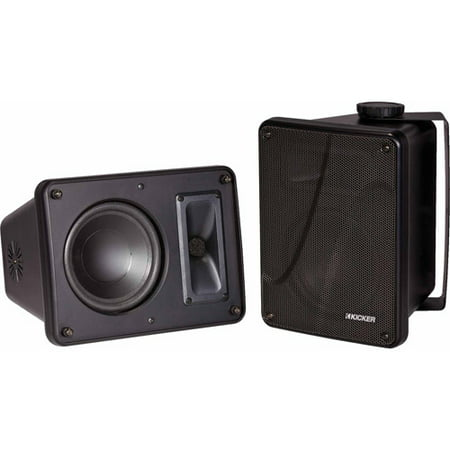Kicker 11KB6000B 6.5  Black Indoor Outdoor/Marine Speakers MAX Power: 150 WattsRMS Power: 75 WattsType: 2-wayComponents per Enclosure: 16.5 Woofer; 5.1  x 12.7  tweeterFrequency Response: 55Hz-21kHzImpedance: 8-OhmsSensitivity (dB 1w/1m): 90dBGrilles Included: YesDimensions: 11  (W) x 8-1/8  (H) x 8-1/8  (D)Weight: 15 LbsCondition: BRAND NEW! Warranty: 2 years (1 Year Manufacturer + 1 Year VMInnovations Warranty)