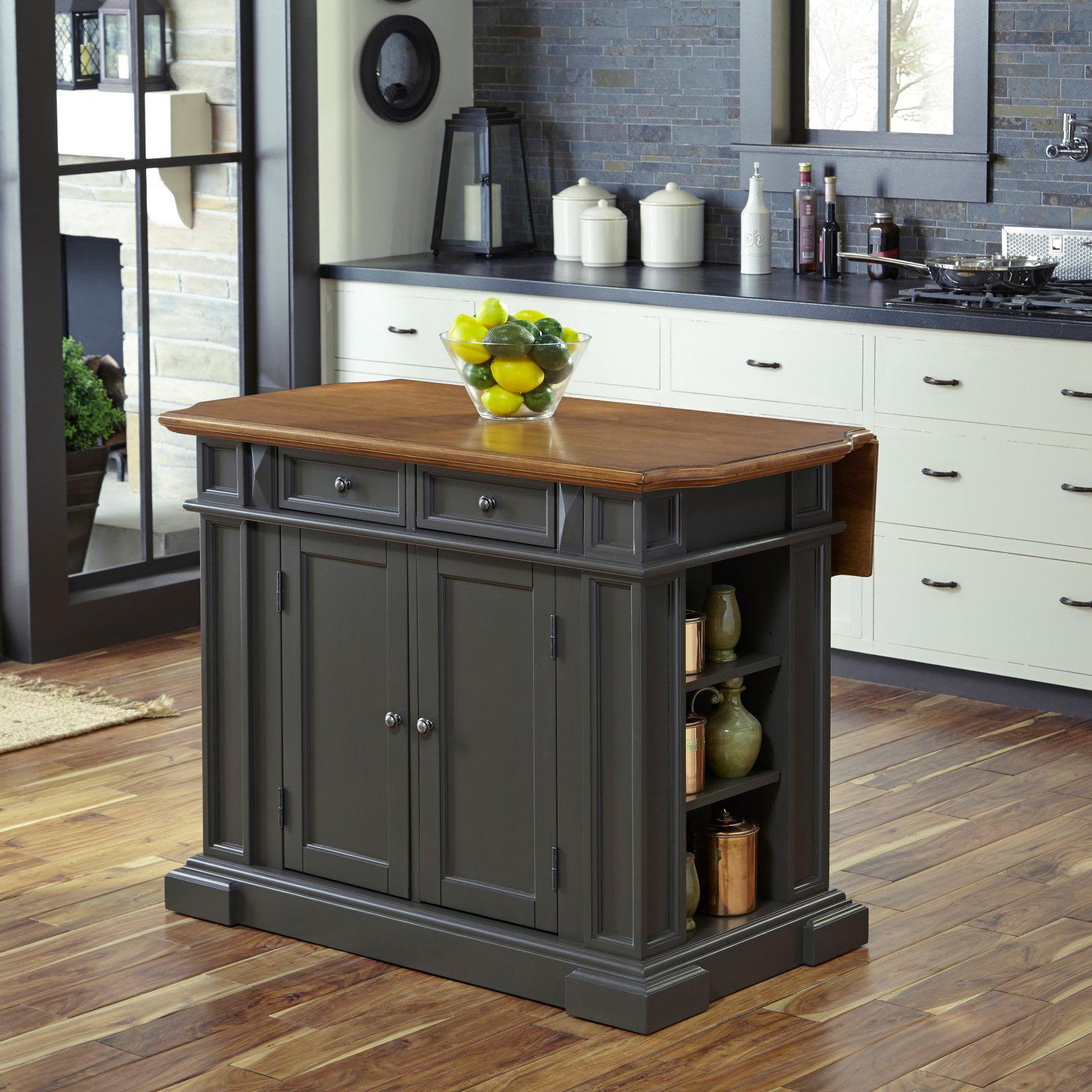 Home Styles Americana Kitchen Island - Gray