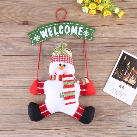 Zerone Christmas Door Hanging Santa Claus / Snowman Christmas Ornaments Decoration Festival Party Home Display, Door Hanging Christmas - Grinch Door Decorations