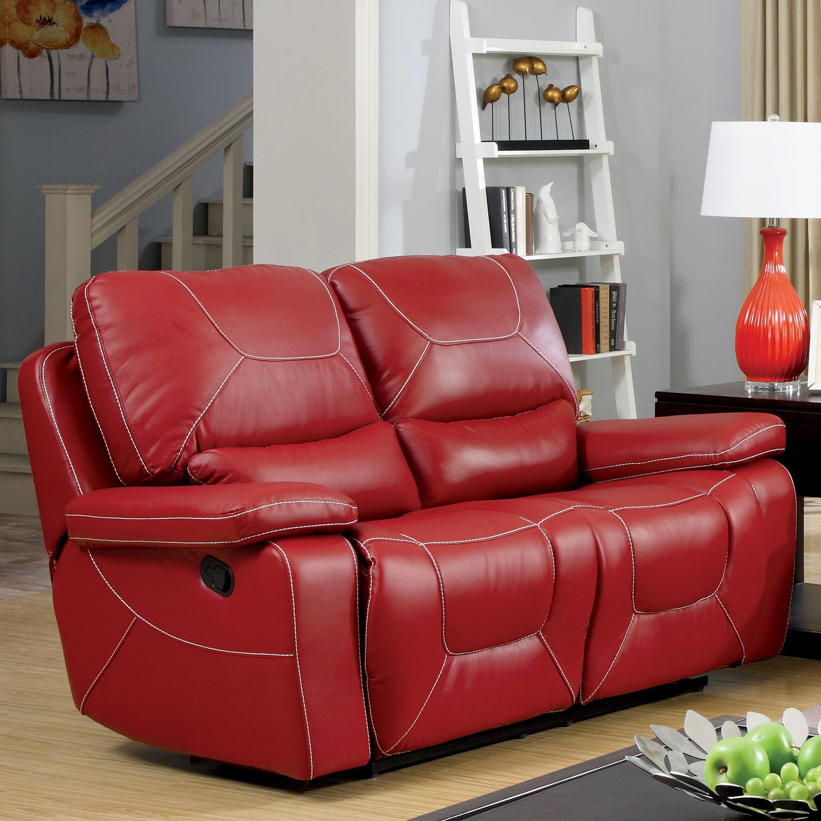 Furniture of America Knightly Recliner Loveseat