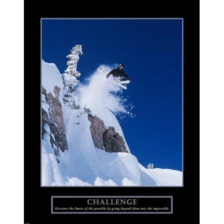 Challenge - Skier Poster Print (22 x 28) - Walmart.com