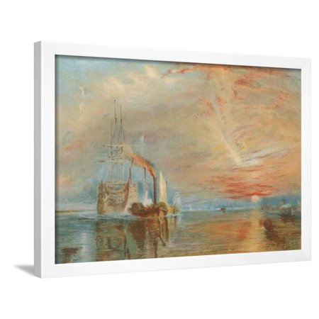 The Old Temeraire Tugged to Her Last Berth Framed Print Wall Art By J. M. W. Turner