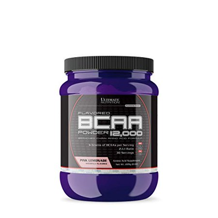 Ultimate Nutrition Flavored BCAA 12,000 Powder - Amino Acid Supplement for Muscle Building and Recovery, Pink Lemonade, 30
