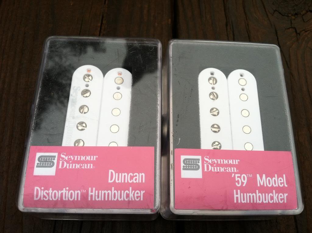 Seymour Duncan Distortion SH-6b Bridge & SH-1n Neck 59 Model WHITE Humbucker Pickup Set... by Seymour Duncan