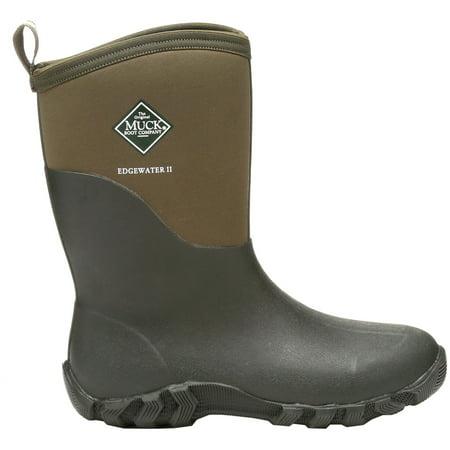 318a19797f7 Muck Boot Men's Edgewater II Mid Waterproof Boots (Moss, 9)