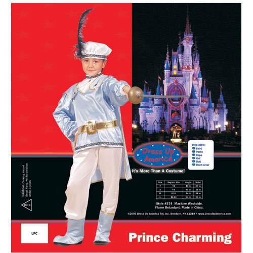 Dress Up America 374-S Prince Charming Costume - Size Small 4-6