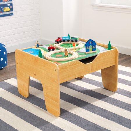 Kidkraft 2 In 1 Reversible Top Activity Table With 200 Building Bricks And 30