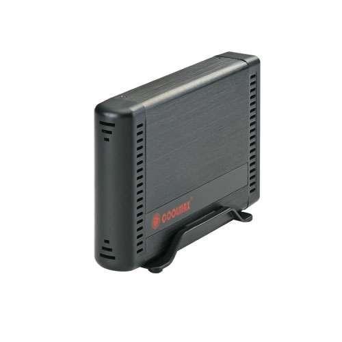 "Coolmax HD-381BK-U3 Hard Drive Enclosure - 3.5"" SATA to USB 3.0, Up to 5 Gbps, Aluminum, Black"