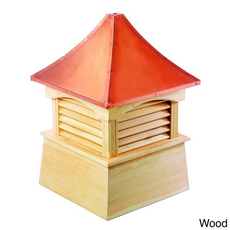 Cupola Copper Roof - Good Directions Coventry Wood Cupola with Copper Roof 18 x 24-inch by