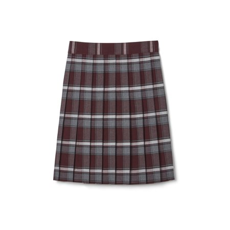 French Toast School Uniform Adjustable Waist Mid Length Plaid Pleated Skirt (Little Girls & Big Girls)