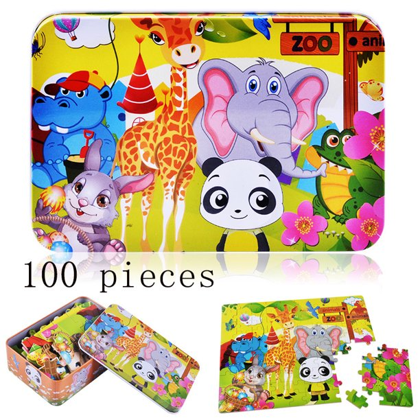 LNKOO Wooden Jigsaw Puzzles for Kids Ages 3-8 Toddler ...