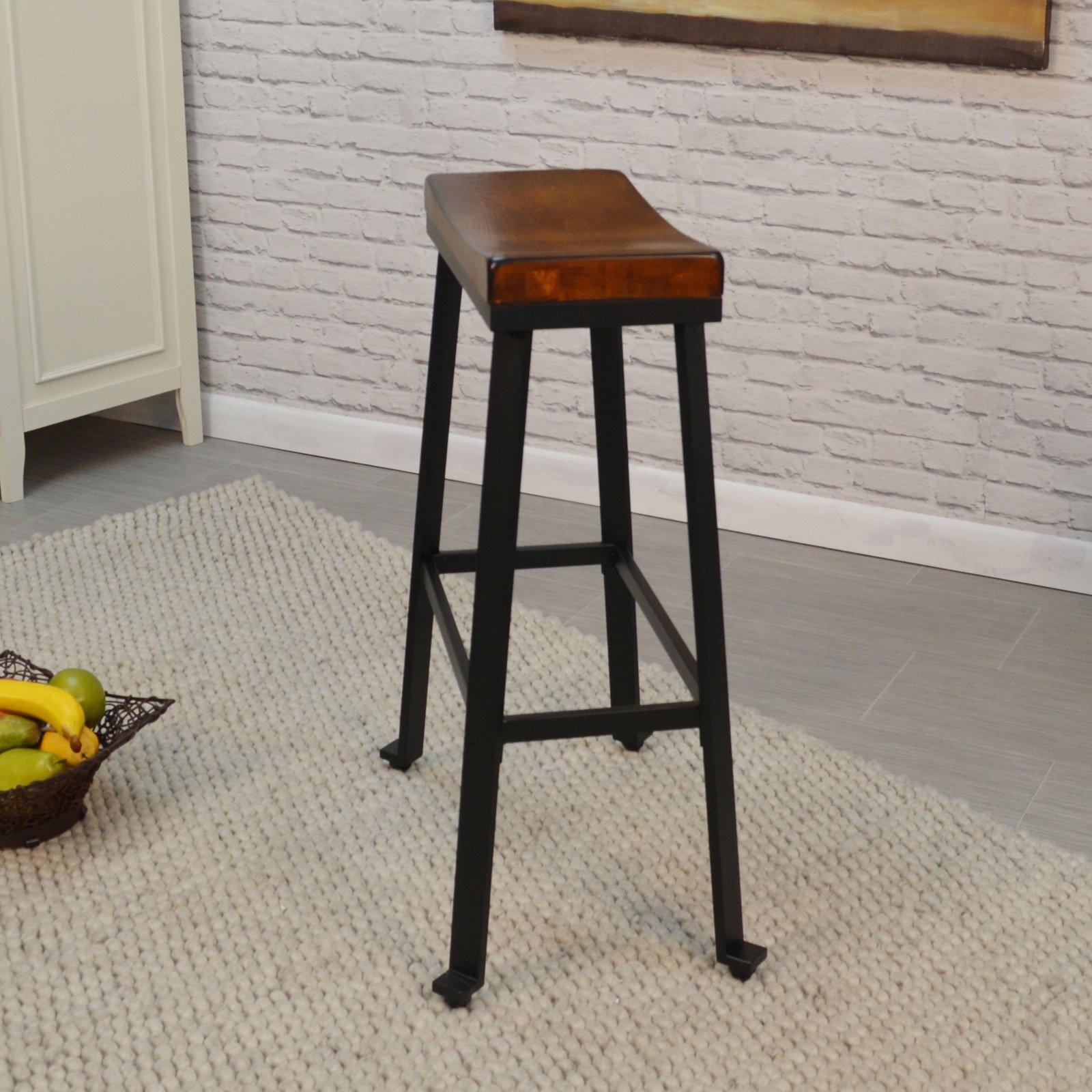 Carolina Chair And Table Oda 30 In Saddle Seat Backless Bar Stool
