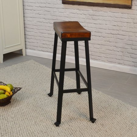 Carolina Chair and Table Oda 30 in. Saddle Seat Backless Bar (Chestnut Knoll Saddle)