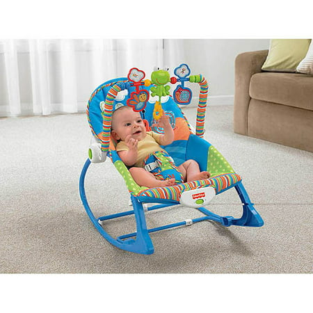 Fisher price infant to toddler rocker sleeper snails for Chaise vibrante