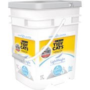 Purina Tidy Cats Lightweight Clumping Litter for Multiple Cats with Glade, 17 lb Pail