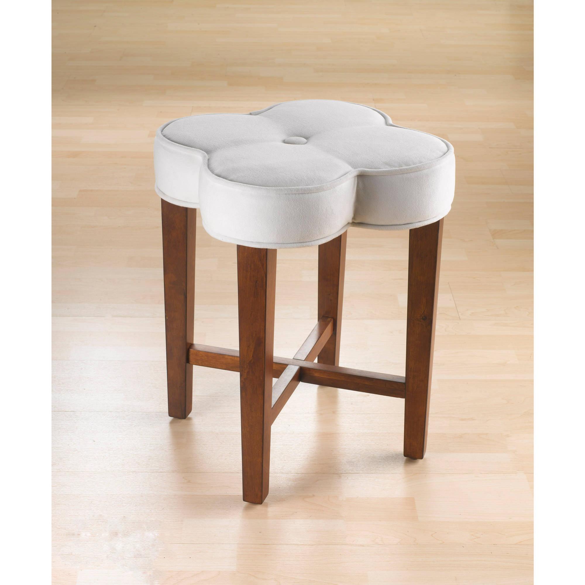 Hillsdale Furniture Clover Vanity Stool, Cherry   Walmart.com