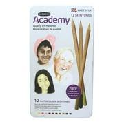 Derwent Academy Watercolor Pencils, Skintones, Metal Tin, 12 Count