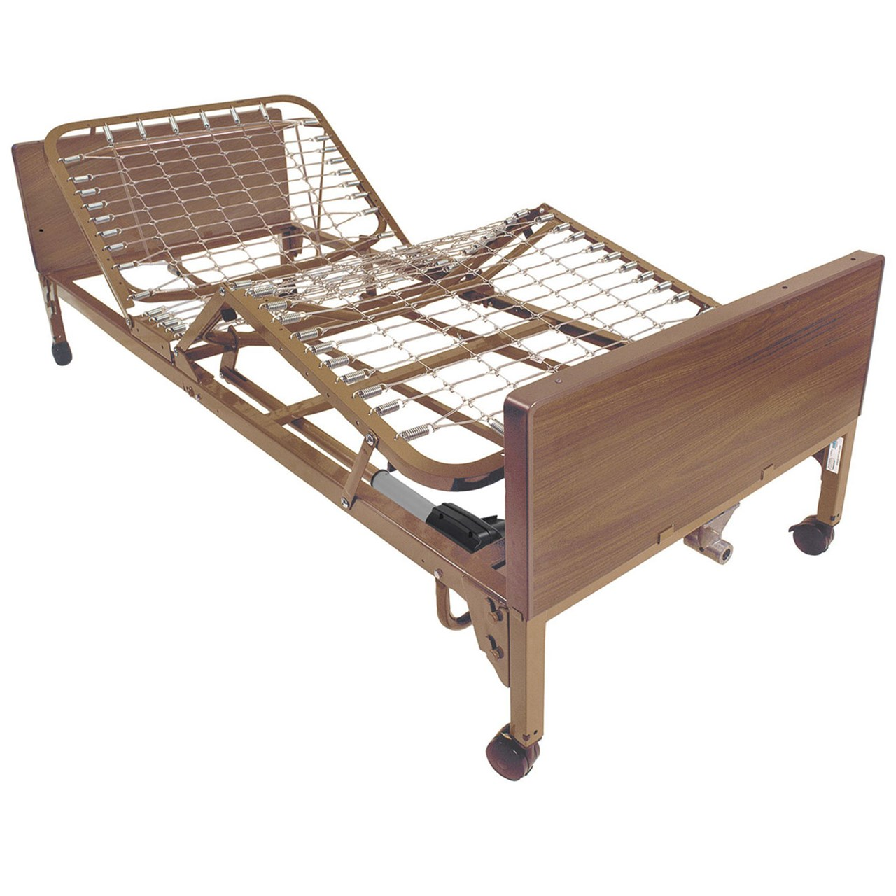Drive Medical Full Electric Bed With Full Length Side Rails, Brown Vein - 1 Ea