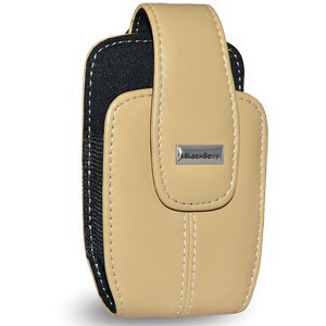 Blackberry Holster, Lambskin Leather Belt Clip Anti Scratch Slip Holster - Ecru Tan