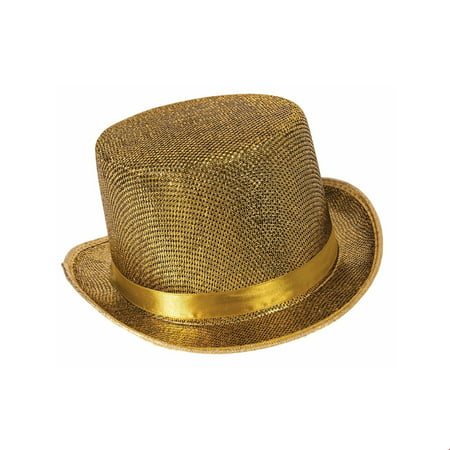 Gold Top Hat Halloween Costume Accessory](Cheap Tophats)