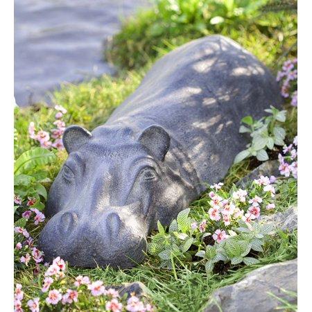 Swimming Hippo Outdoor Garden Sculpture / Yard (Yard Art Garden)