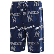 New York Yankees Concepts Sport Excel Printed Knit Jam Shorts - Navy