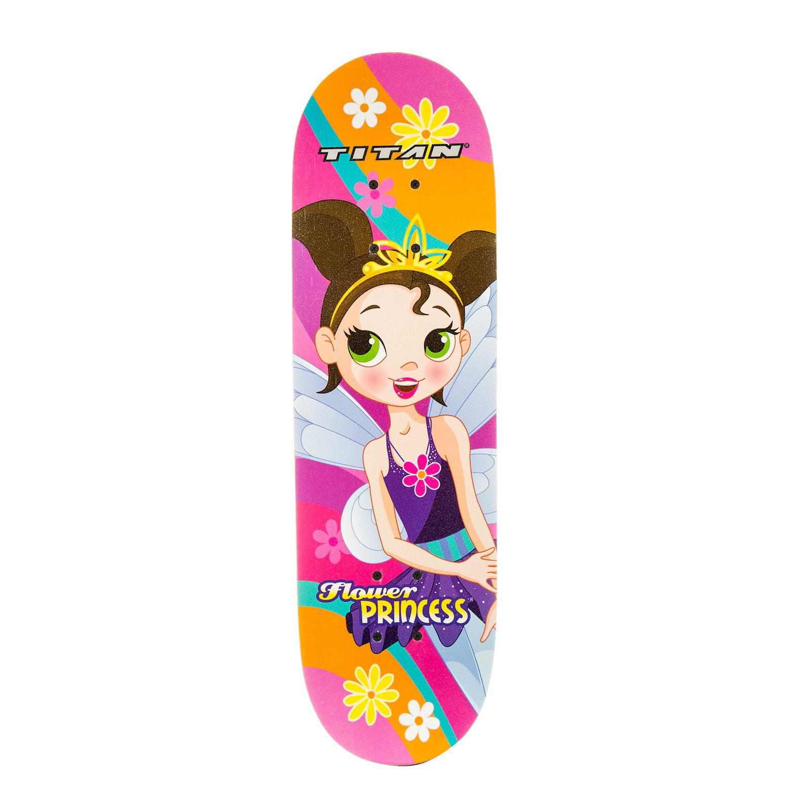 Titan Flower Princess Girls' Complete Skateboard