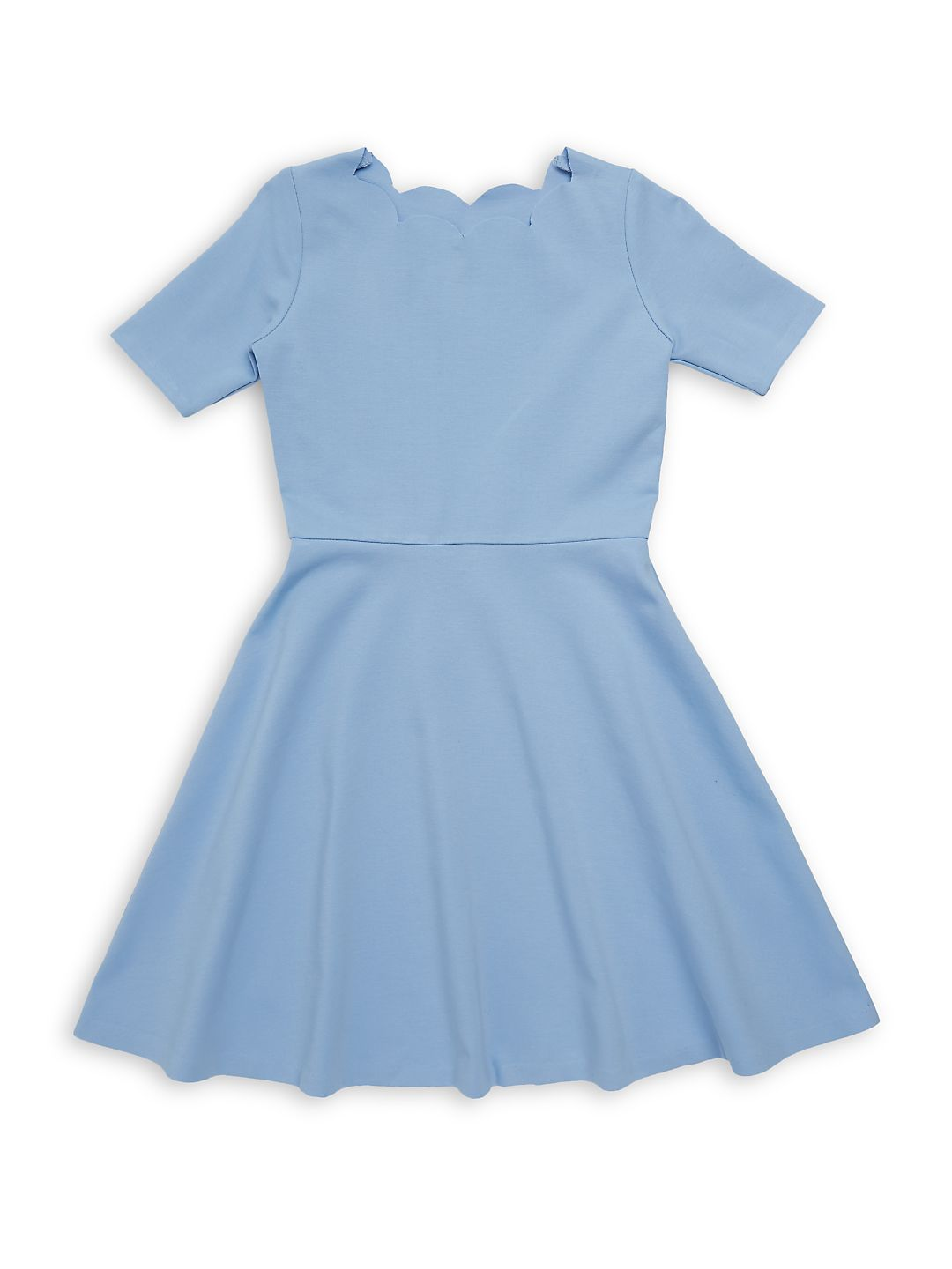 Girl's Scalloped Fit-&-Flare Dress