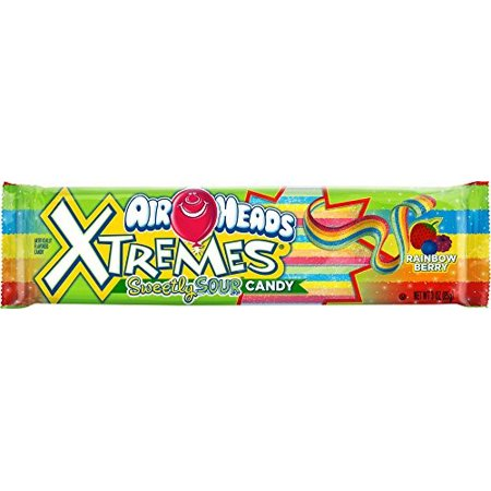Airheads Xtremes Rainbow Berry Sour Belts Candy, 3 Oz., 12 - Royal Wholesale Candy