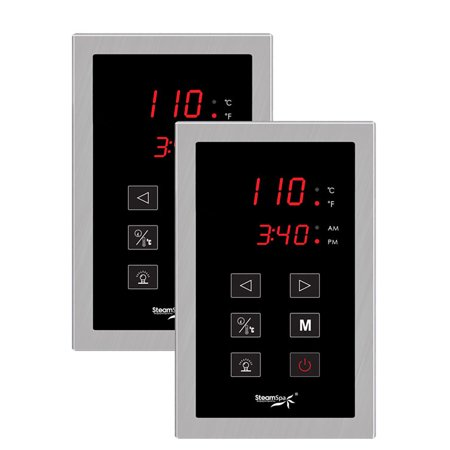 - SteamSpa Dual Touch Panel Control System in Brushed Nickel