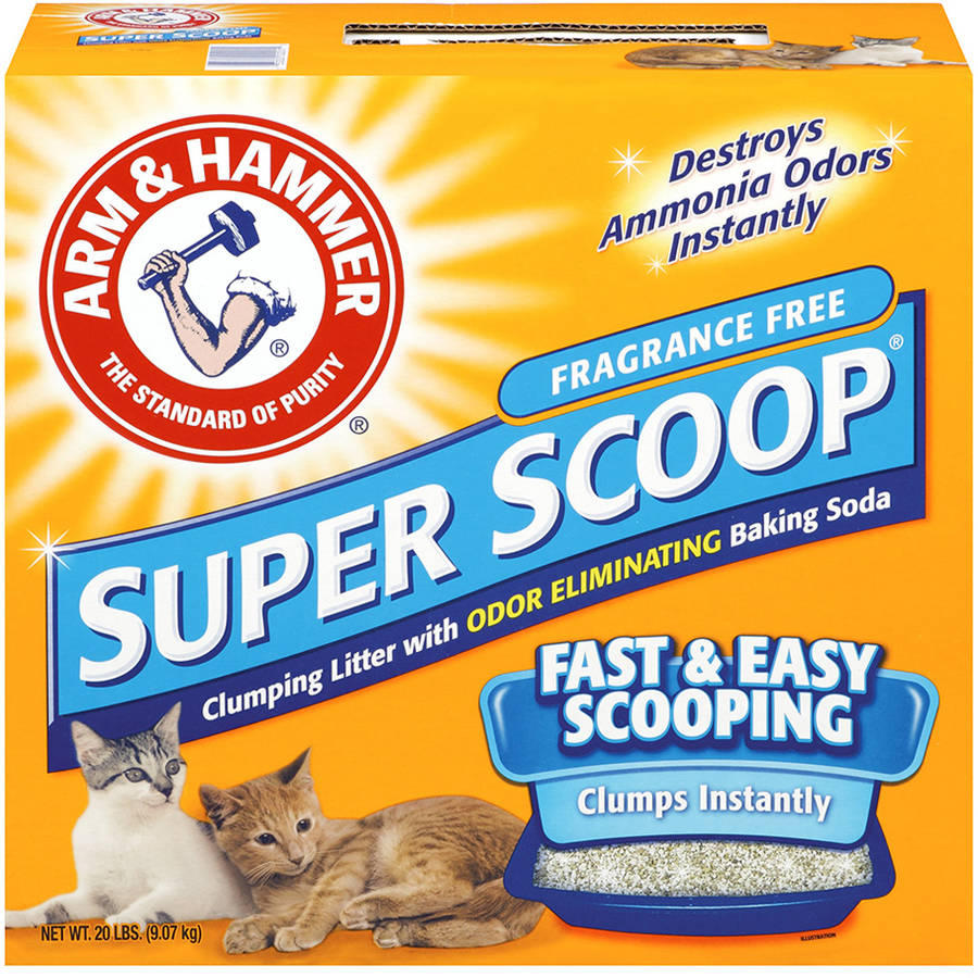 Arm & Hammer Super Scoop Clumping Cat Litter Fragrance Free 20 lb