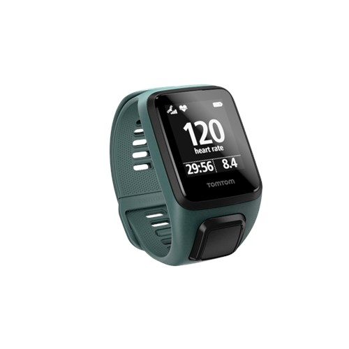 TomTom Spark 3 Cardio GPS Fitness Watch, Small, Aqua by Tom