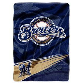 "Milwaukee Brewers 60""x80"" Royal Plush Raschel Throw Blanket"