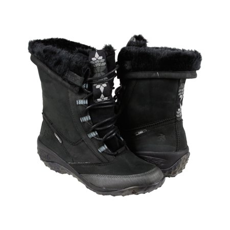 Cushe Allpine Cone Leather Womens Black Leather Casual Dress Lace Up Boots Shoes