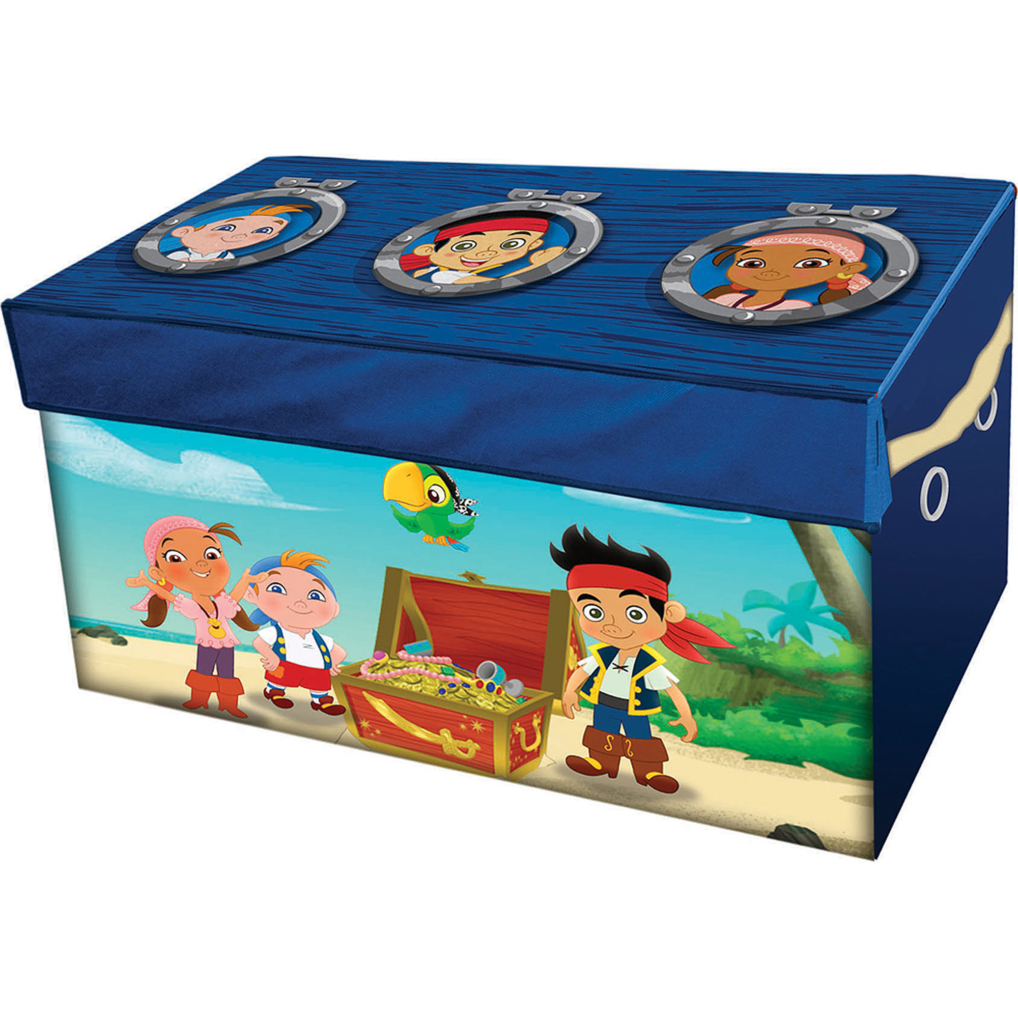 Disney Jake & the Neverland Pirates Oversized Soft Collapsible Storage Toy Trunk